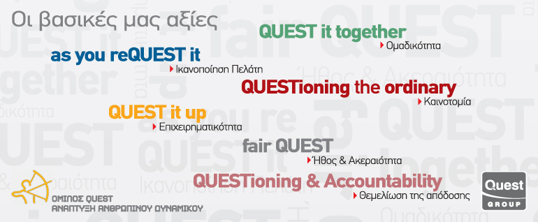 Quest Group's commitment to promoting Transparency, Accountability, Development and Preservation of Healthy Competition